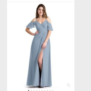 Dusty Blue Azazie Bridesmaid's Dress